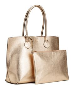 Shopper with Clutch   Gold-colored   Women   H&M US