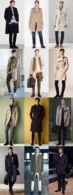 Men's Trench Coat Outfit Inspiration Lookbook