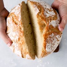 Easy Crusty French Bread - This easy no knead dutch oven bread recipe is sure to be a hit! Ready quickly in just a few hours - no overnight rising necessary and no bread machine needed. Baked in a dutch oven for a crispy crust on the outside and soft, air Artisan Bread Recipes, Quick Bread Recipes, Baking Recipes, Dessert Recipes, Cake Recipes, Crusty Bread Recipe Quick, Italian Bread Recipes, Baking Desserts, Fresh Yeast Bread Recipe