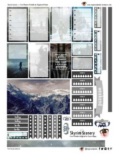 Planner Printable: Skyrim Scenery Free Planner Printable - Skyrim Scenery for Happy Planner ClassicFree Planner Printable - Skyrim Scenery for Happy Planner Classic Stardust Planner Sticker Kit Free Printable Planner Stickers, Planner Free, Planner Pages, Happy Planner, Printables, Free Stickers, Skyrim, Minimalist Bullet Journal, Diy Organizer