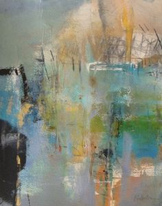 "Mixed Media Artists International: Abstract Mixed Media Painting ""Breaking Through"" by Intuitive Artist Joan Fullerton"