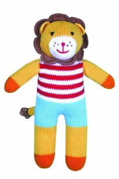 Amazon.com: Zubels Lion Leonard 12-inch Hand-Knit Doll: Toys & Games