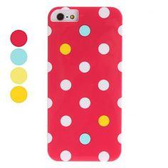pontos coloridos caso difícil padrão para o iphone 5/5s (cores sortidas) – BRL R$ 15,47