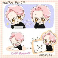 Chibi Body, Huang Renjun, Anime Chibi, Nct Dream, Fanart, Kpop, Comics, Drawings, Cute