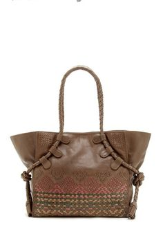 Tahoe Leather Weave Tote by Isabella Fiore on @HauteLook