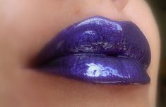 Deep Purple - Dark Metallic Purple Lip gloss/Liquid Lipstick