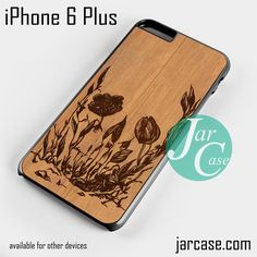 flower skull wood Phone case for iPhone 6 Plus and other iPhone devices