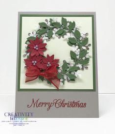 Company Christmas Cards, Christmas Gift Card Holders, Homemade Christmas Cards, Christmas Photo Cards, Xmas Cards, Poinsettia Cards, Christmas Poinsettia, Stampin Up Christmas, Christmas Wreaths