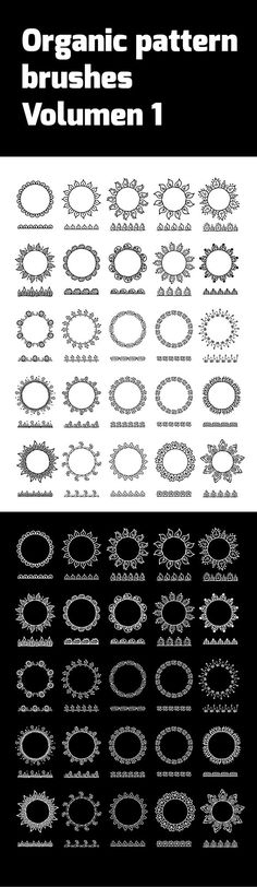 Organic Pattern Brushes V1 - Illustrator Add-ons