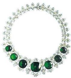 Bulgari's emerald platinum necklace made in 1961, estimated to be ...