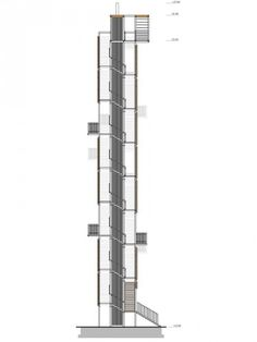Section, Observation Tower by ARHIS