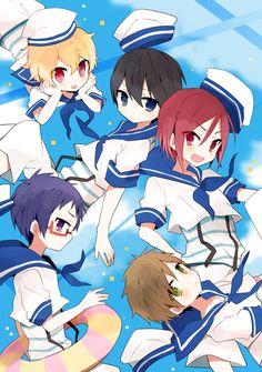 Ryugazaki Rei, Hazuki Nagisa, Matsuoka Rin, Nanase Haruka & Tachibana Makoto - Free!