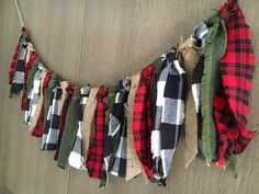 Lumberjack Party Fabric Garland Plaid by DifferentFrameOfMine