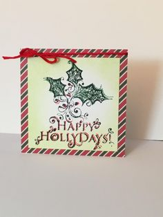 FF16hbrown Holly Days Gift Tag