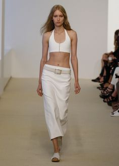 Bra top with pencil skirt I Calvin Klein Collection Resort 2014 #fashion