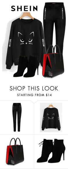 """""""Shein contest"""" by ikan-emir ❤ liked on Polyvore featuring Christian Louboutin and Tom Ford"""