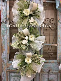 Floristry Navidad 3 Rústico De Ratán Mariposa Selecciones floristería Shabby Chic Navidad