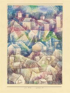 Artwork by Paul Klee, Voralpiner Ort, Made of watercolor on paper laid down by the artist on board 1925