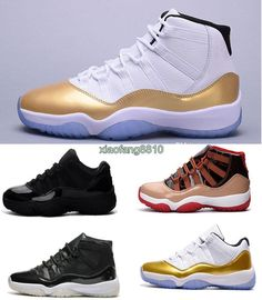 1b1093dd844df1 Newest Mens Air Retro 11 Low Metallic Gold Olympic Navy Gum Pantone  Concords Breds Legend Gamma Blue Cool Grey High 11s Xi Basketball Shoes  Athletic Shoes ...