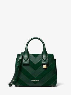 d453aacf89 Michael Michael Kors Rollins Small Chevron Leather Satchel Leather Satchel,  Pebbled Leather, Chevron Patterns