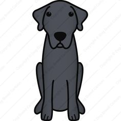 Anatolian Shepherd Dog | Black Edition | Dog Breed Cartoon | Download Your Breed Now! Then print it! Frame it! Love it! Or create your own memorabilia!