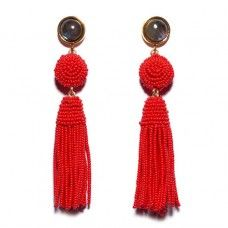 Shop Indie Online Stores For Fashion No One Else Has: LIZZIE FORTUNATO RED HAVANA EARRINGS. | Coveteur.com