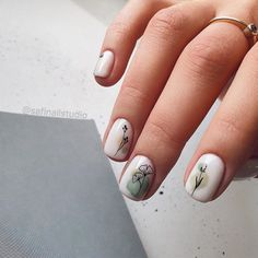 45 My Favourite Acrylic And Short Nail Painting Ideas – Page 6 Cute Nails, Pretty Nails, My Nails, Cute Short Nails, Short Nails Art, Picasso Nails, Minimalist Nails, Manicure Y Pedicure, Pin On
