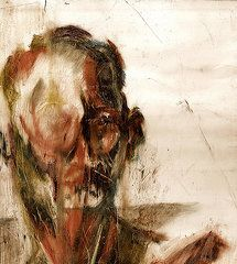 Oil Pastels Featured Images - Study of a Mans Face  by David Finley