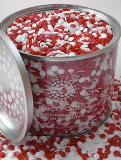 Deco Dots™Red and White Team Colors #deco_dots #red_and_white #team #colors #party #decorations