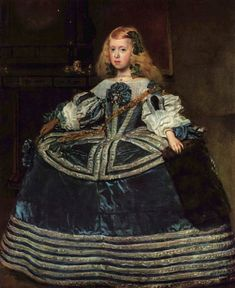 'Infanta Margarita Teresa in a Blue Dress' (one of the best known portraits by Spanish painter Diego Velázquez; oil on canvas, It is at the Kunsthistorisches Museum, Vienna, Austria Infanta Margarita, Kunsthistorisches Museum Wien, Diego Velazquez, Top Paintings, Paintings Famous, Amazing Paintings, Baroque Painting, Baroque Art, Picture Frame Art