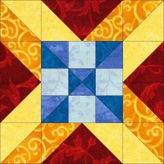 Dream Castle Quilts - Alaska's star block  (This could be our quilt block for the barn!)