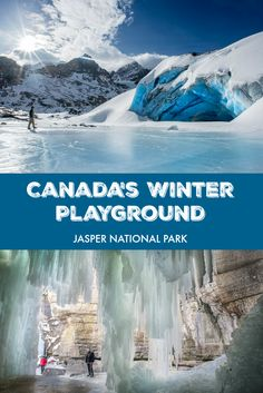 Winter adventures at Jasper National Park in Alberta, Canada. Skiing, snowboarding, ice walking, and more!
