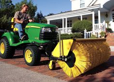 View John Deere attachments and implements for riding lawn equipment and find the perfect one for your needs. John Deere Equipment, Lawn Equipment, Heavy Equipment, Outdoor Power Equipment, Riding Lawn Mower Attachments, John Deere Attachments, Types Of Lawn, John Deere Lawn Mower, Riding Lawn Mowers