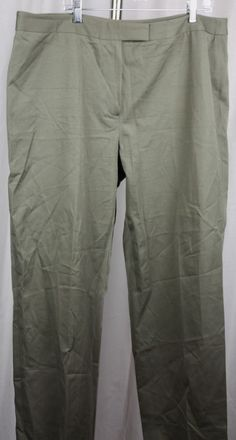 Calvin Klein Womens Olive Green Cotton Blend Stretch Casual Career Slacks 20W #CalvinKlein #CasualPants