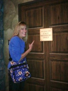 Maude at California Adventure. Seems she always attempts to go backstage and is always reminded that she is not a Cast Member! Follow Maude and Hermione for more Disney Pinspirations!