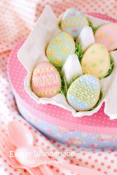Display your decorated egg shaped cookies in a natural fiber egg carton!