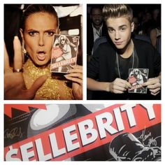 $ellebrity is in theaters and on VOD now!  Check out these 2 great fans, Justin Bieber and Heidi Klum! Heidi Klum, Justin Bieber, Fans, Celebrities, Check, Celebs, Justin Bieber Lyrics, Celebrity, Famous People