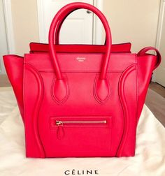 Red Celine bag. Omg love at first sight