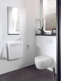 Toiletmeubelen | X2O badkamers - UW-badkamer.nl Armoire, Bathroom Under Stairs, Basin, Home, Laque, Modern, Curves, Pivot Doors, White People