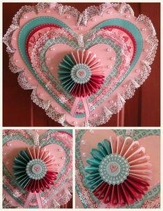 Dragonfly Designs Layered Hearts Door Hanging