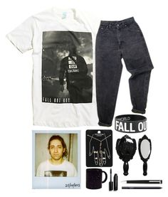 """~you are a brick tied to me that's dragging me down~"" by bachelors-new-clothes ❤ liked on Polyvore featuring Levi's, Polaroid, Topshop, Anna Sui, Bobbi Brown Cosmetics, Montblanc and NARS Cosmetics"