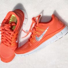 Orange Nike sneakers