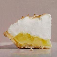 """Lemon Meringue III"" - Original Fine Art for Sale - © Oriana Kacicek"