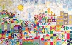 Tips for My Small World Quilt {Part 1 - Fabrics, foundations, and all that sky} | Snippets 'n' Scraps | Bloglovin