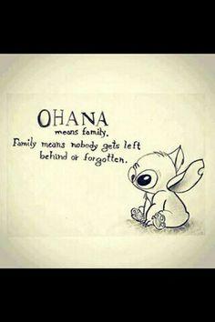 Ohanna means family