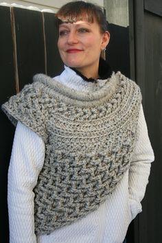 Crochet Cowl In Grey Marble by JennisCrochet Made by JennisCrochet, $125.00 katniss inspired cowl