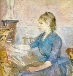 Paule_Gobillard_peignant by Berthe Morisot, 1889.