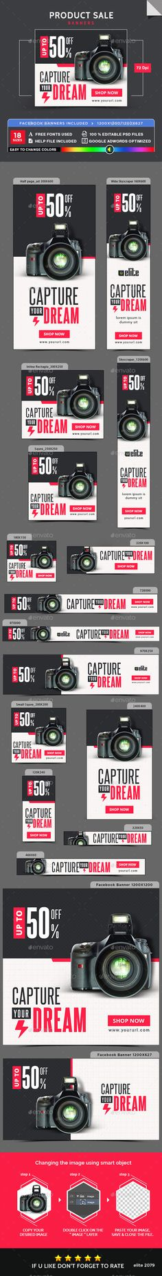 Product Sale Banners Template PSD #ads #promotion