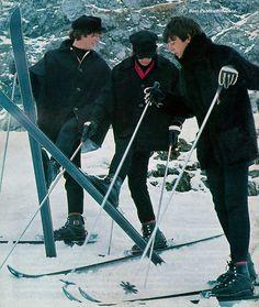 John Lennon, Richard Starkey, and Paul McCartney (really cute photo of them)