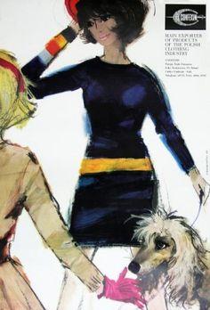 Janusz Grabianski's commercial art work Commercial Art, Vintage Posters, Vintage Fashion, Beautiful Women, Graphic Design, Lady, Polish, Artwork, Movie Posters